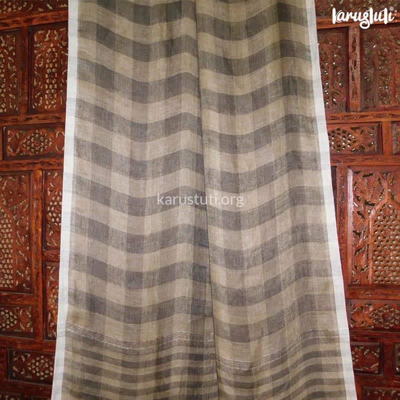 Premium linen checks handloom