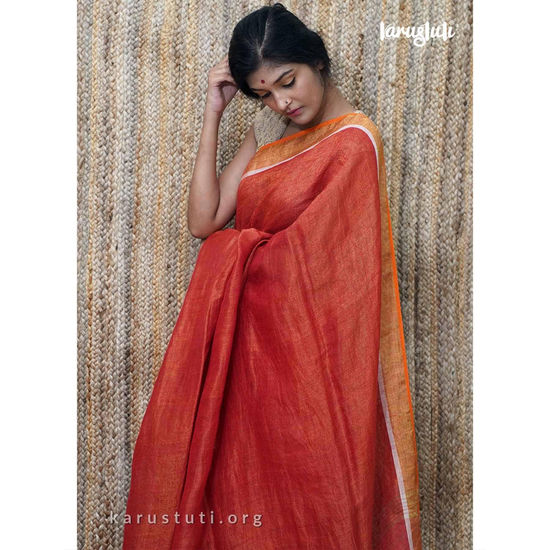 Summer Linen Handloom Saree